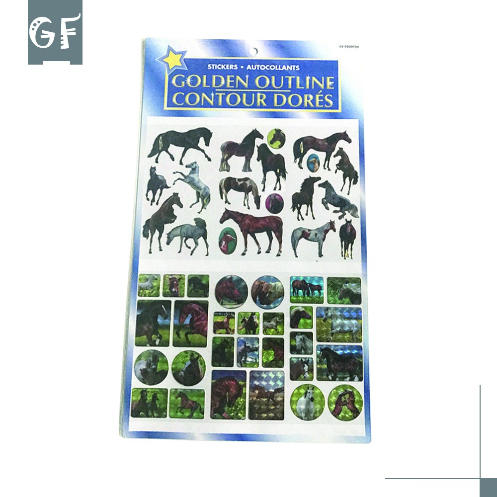Future GFP-2635 Cheap Fashion Horse Pattern Kid Cartoon Reflective Sticker Imported From China