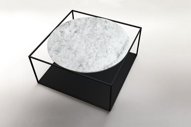 China supplier vintage industrial furniture marble coffee side table for home decer mesas de centro