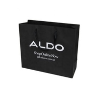 Cheap Custom Logo Printed Luxury Black Gift Packaging Kraft Paper Bag Shoping For Boutique