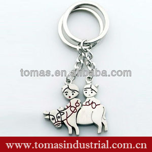 Promotional metal cute design matching magnetic couple lover keychain