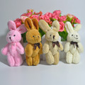2Pcs Set Wedding Gift Joint Rabbit Bouquet DOLL TOY DIY Pendant Plush Stuffed TOY Soft Figure