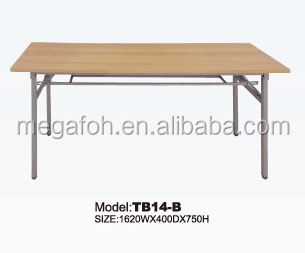 Beech color furniture training group discussion table(FOH-TB14-B)