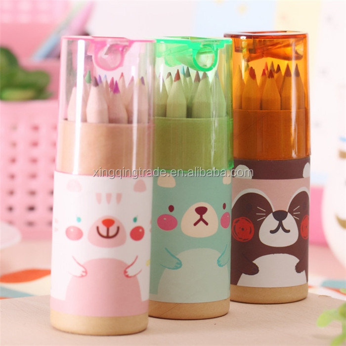 Mini Bear 12 Color Small Pencil Drawing Pen For Six One Children 's Day Festivals Gift