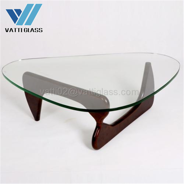 6mm-12mm clear premium tempered glass dining table top glass
