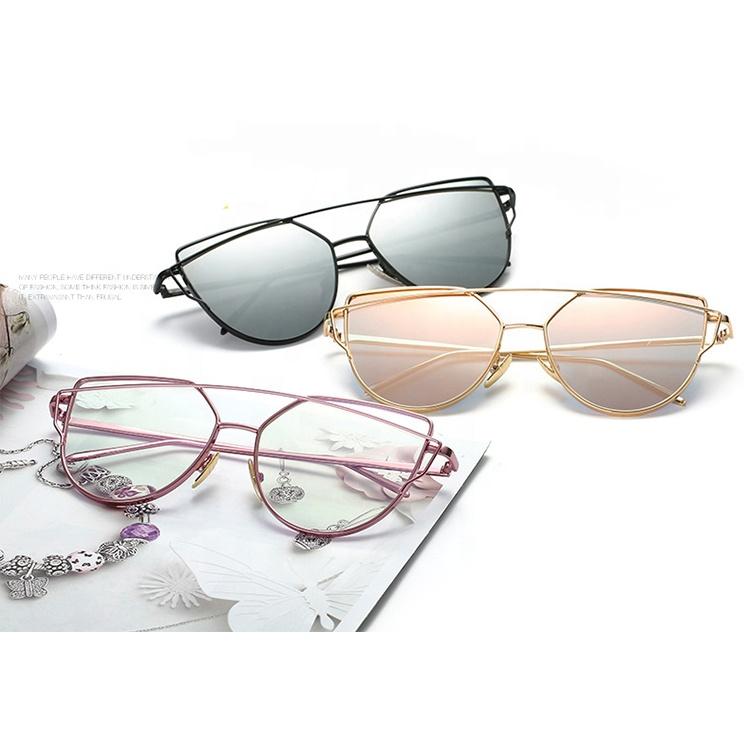 0025eefc2c793 2019 Retro Metal Custom Round Frame Sunglasses Men Women Mirror UV400 Sun  Glasses