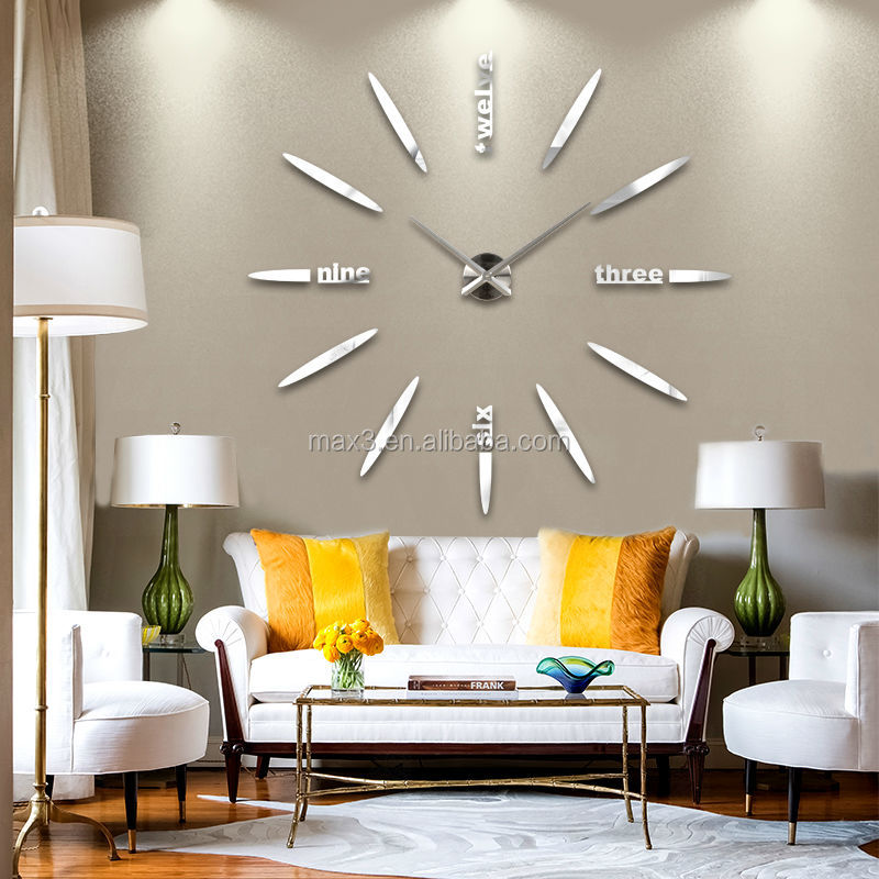 Waste Material Wall Hanging Clock For Gift