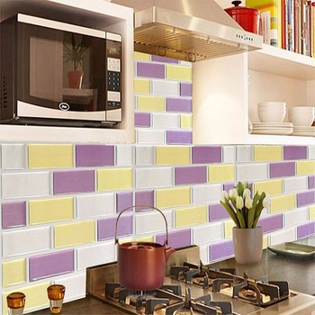 kitchen bathroom pvc tiles mosaic self adhesive wallpaper for