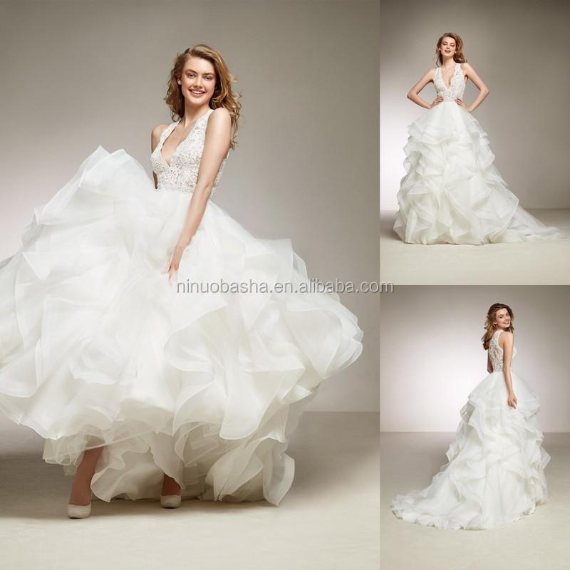 Venta al por mayor vestido con escote profundo-Compre online los ...