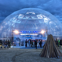 1000 People Outdoor Luxury Concert Exhibition Dome Geodesic Tent For Church Events