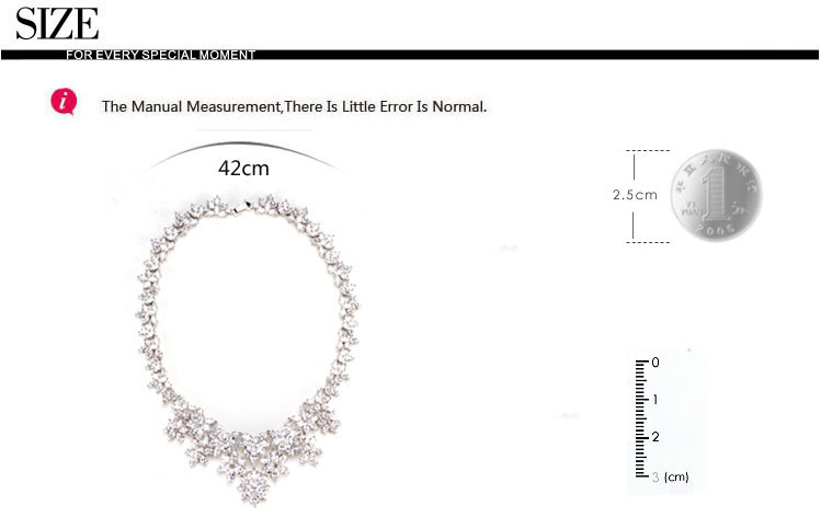 LUOTEEMI Charm Elegant Women Bridal Wedding Jewelry Sets AAA Zircon Big Necklace And Earrings White Gold Plated Party Jewelry