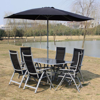 Swell 7Pcs Outdoor Folding Patio Dining Set With Table 4 Chairs Umbrella And Built In Base Buy Patio Dining Set With Umbrella Dining Table And Uwap Interior Chair Design Uwaporg