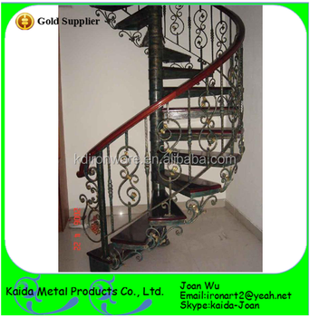 Decorative Wrought Iron Indoor U0026 Outdoor Spiral Stair Railings Design