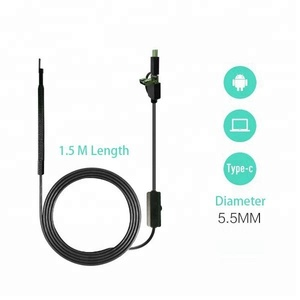 3in1 Android Type C USB Medical Endoscope Camera Ear Nasal Endoscope for Ear Mouth Nose Skin Hair inspection