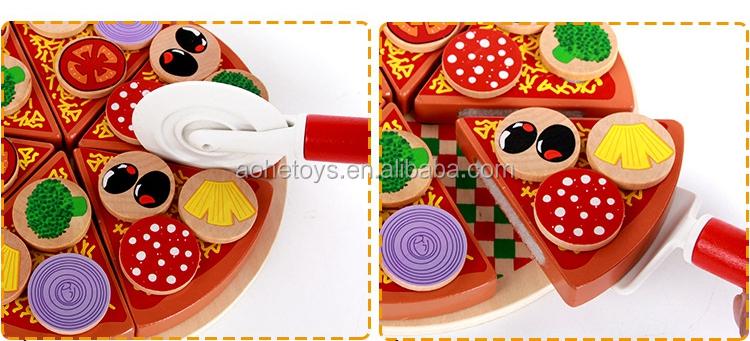 18 Pc Garniture Enfant Cuisine Jeu Jeu Jeu De Nourriture En Bois Pizza Coupe Jouets Buy Jouets De Pizza Pizza En Bois De Jouet De Cuisine Jouet En