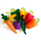 Promotional custom soft felt fabric vegetable toys