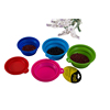 2017 New Collapsible Food Water Feeder Silicone Portable Folding Travel Pet Dog Bowl Silicone Foldable for Dog and Cat