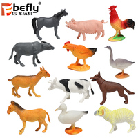 12 kinds mixed hollow farm animal model toy plastic animal