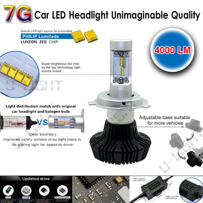High Quality 30w 4000lm 7g Led Headlight H4,H1 H3 880 H7 H9 9012 ...