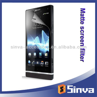 Custom fit for sony ericson xperia mini matte screen guard from factory in Shenzhen, China