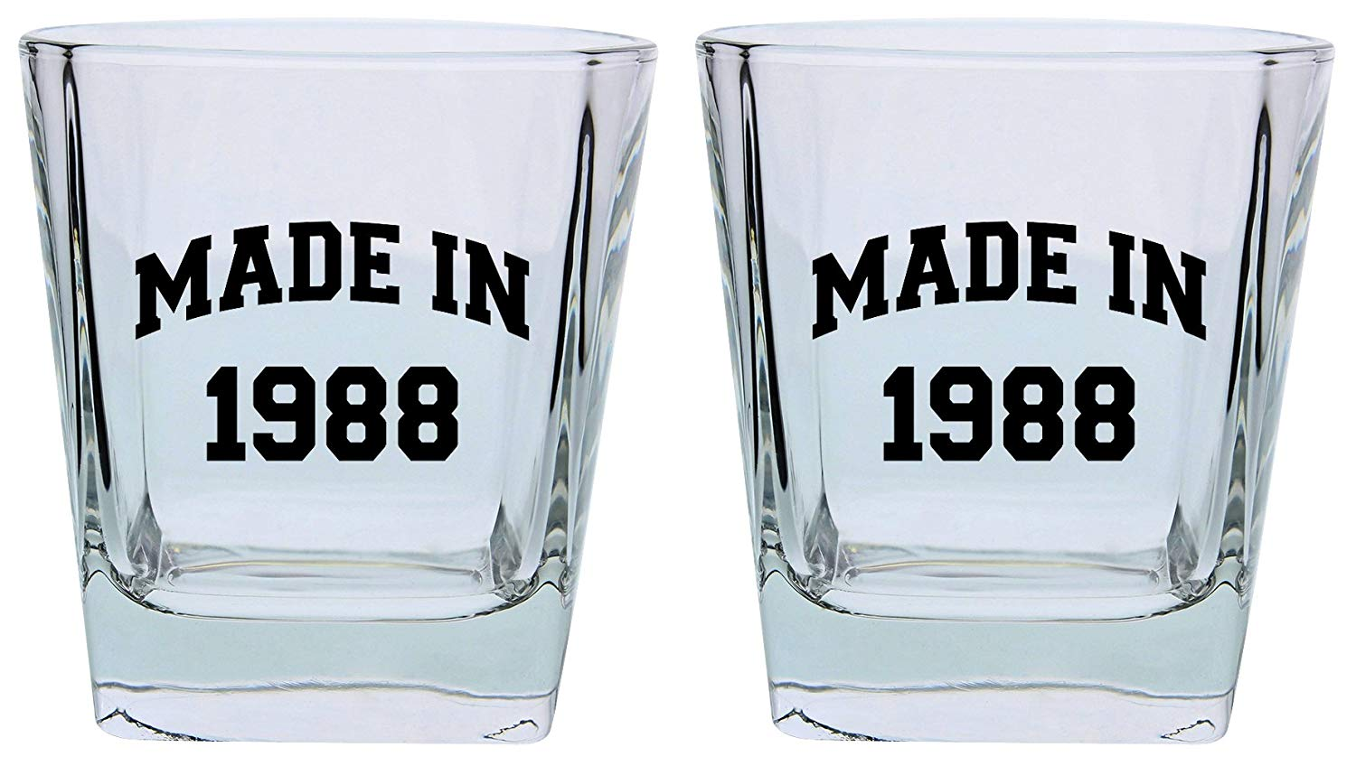 Get Quotations 30th Birthday Gifts For Brother Sister Made In 1988 Funny Party Supplies Square Lowball