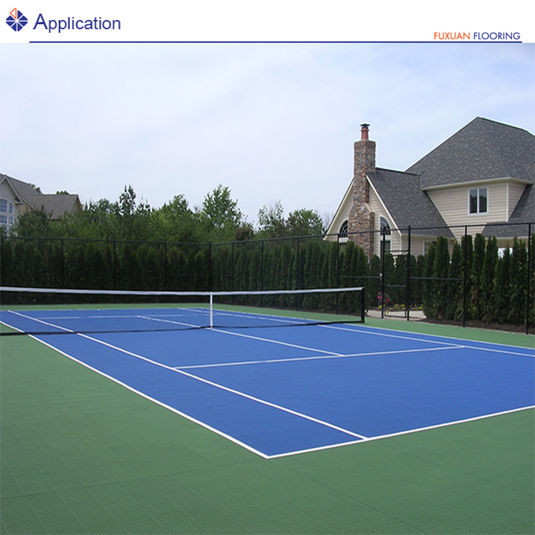 plastic portable paddle tennis court surface interlocking tile sports flooring equipment