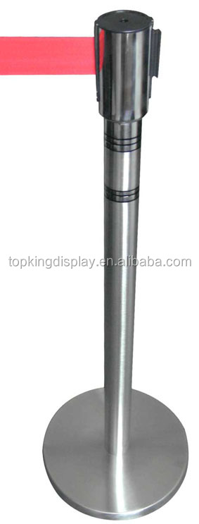 Stainless Steel retractable belt barrier stanchion for sale