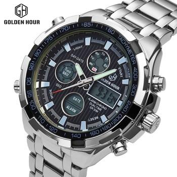 3bfd2e9340f9 Hora De Oro Digital Led Relojes Deportivos Para Hombres
