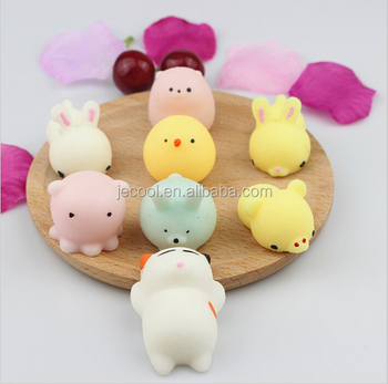 Mini Squeeze Toy Squishy Cat Cute Kawaii Doll Squeeze Stretchy Animal Duck Seals Chicken Rabbit ...