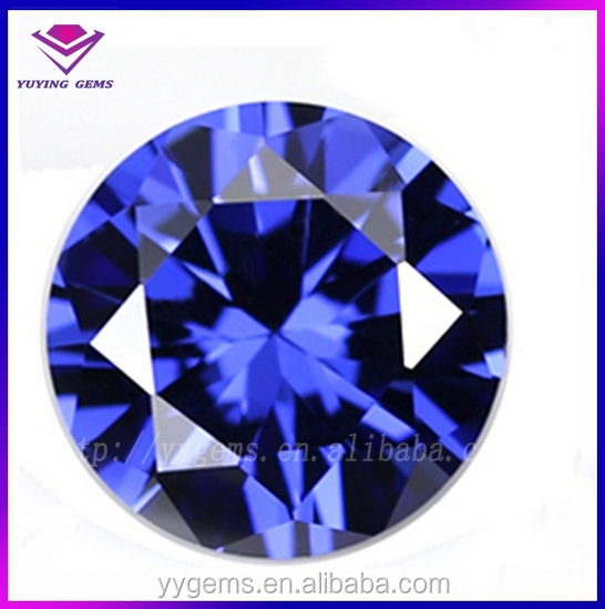plating loose gem price sapphire blue cz lot