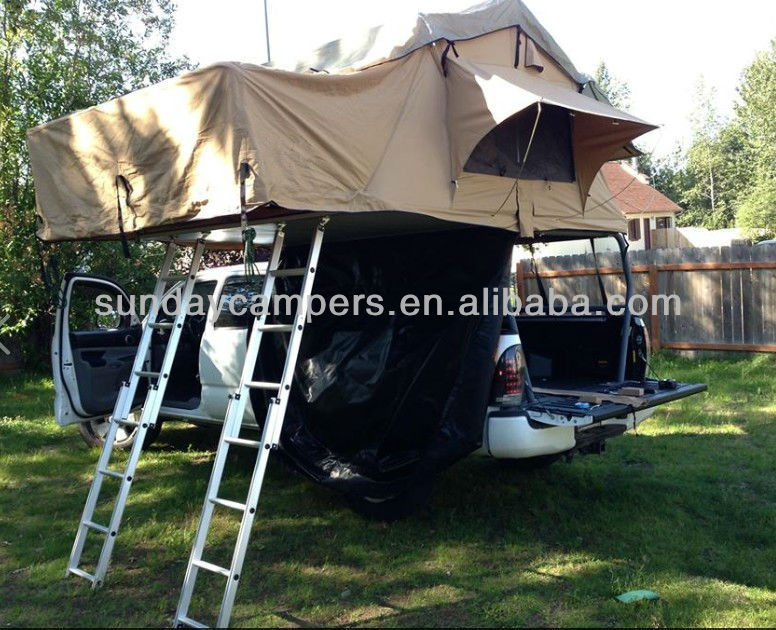 2017 New Style Large Car Roof Top Tents With Two LaddersLarge Roof Tent - Buy Large Roof Top TentsLarge Car Roof TentsLarge Roof Tents Product on ... & 2017 New Style Large Car Roof Top Tents With Two LaddersLarge ...