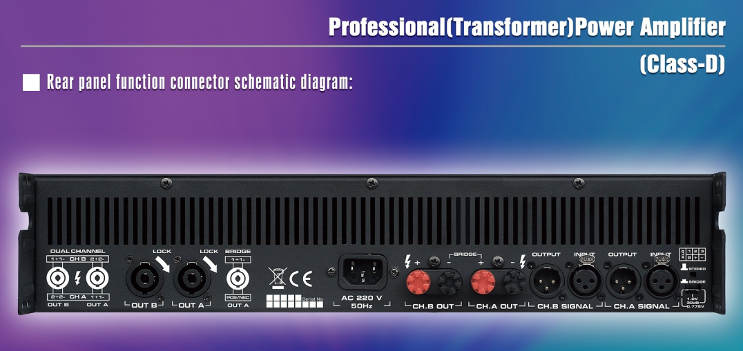 Professional Class D power amplifier