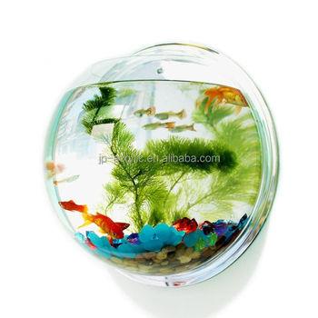 Indoor Small Acrylic Fish Tank Wall Hanging Fish Bubble Aquarium