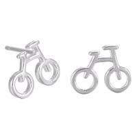 925-Sterling-Silver Tiny Bicycle Stud Earrings For Women Men Jewelry Accessories Best Friend Gift Vintage Girls Earrings