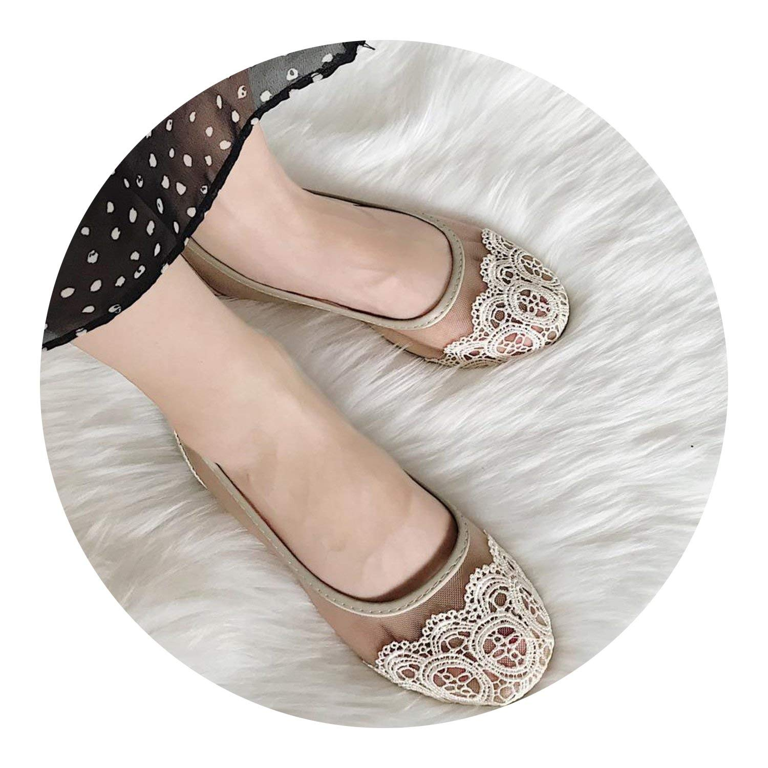76d49ecff6f Get Quotations · Kingwhisht Loafers   Slip-Ons Mesh Loafers Lace Flats Shoes  Hollow Out Slip on Flat