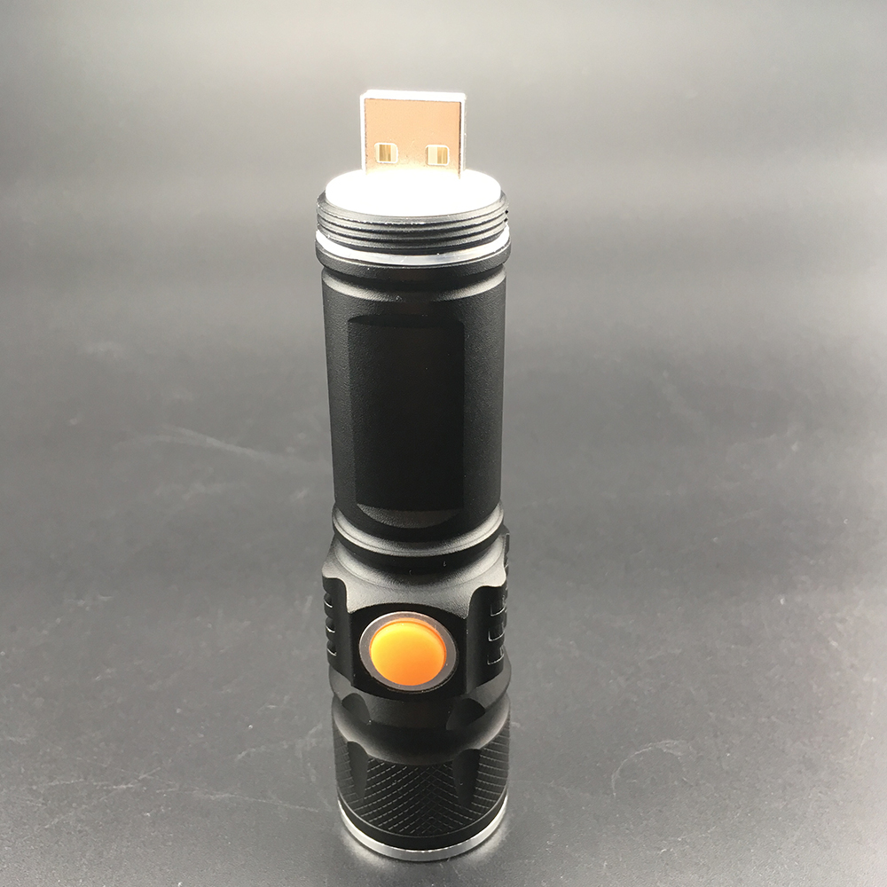 500 lumens Waterproof LED Torch Light Mini USB Rechargeable Zoomable <strong>CREE</strong> T6 Flashlight