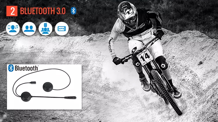 China motorbike accessories 1000m motorcycle helmet bluetooth headset intercom