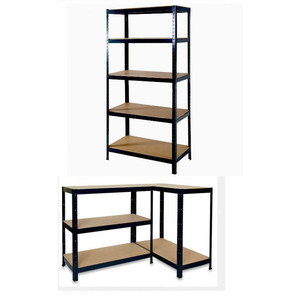 5 Tier Heavy Duty Boltless Shelving Shelves Storage Garage 1.5m Metal Shelf Brackets Home Kitchen Combination Tv Unit Cabinet