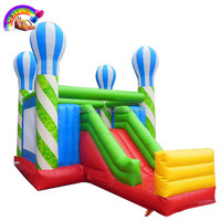 Inflatable bouncer with slide/inflatable moonwalk bouncer
