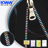 No.5 Special Colorful large Garment Metal Zipper, jeans zipper with durable teeth