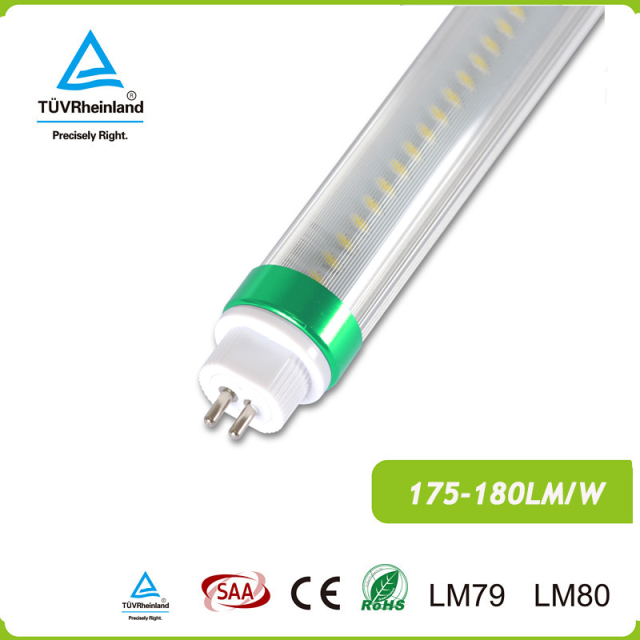 type b DLC t5 led light tube 36W 6000LM 175LM/W Direct wire electronic ballast bypass with internal driver for USA market