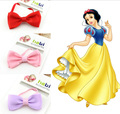 5pcs 2016 Hot Selling Baby Headbands Kids Bow Hair Band Solid Elastic Head Band Princess Girl