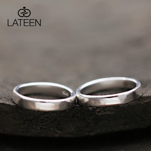 S990 Sterling Silver Original Handmade Couple Rings Smooth Surface Pure Silver Rings for Men and Women