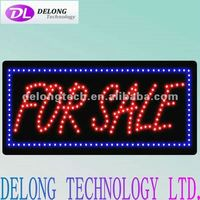CE RoHS 60X30cm flashing open closed acrylic RED LED FOR SALE sign