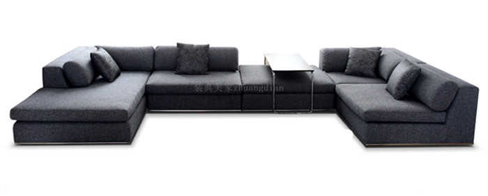 sofa set indian u shaped sofa for living room modern dark fabric sofa. Black Bedroom Furniture Sets. Home Design Ideas