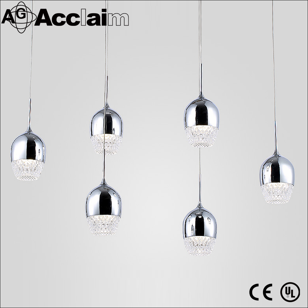 Reception Decor Chrome Crystal Chandelier Simply Suspension Pendant Lamp