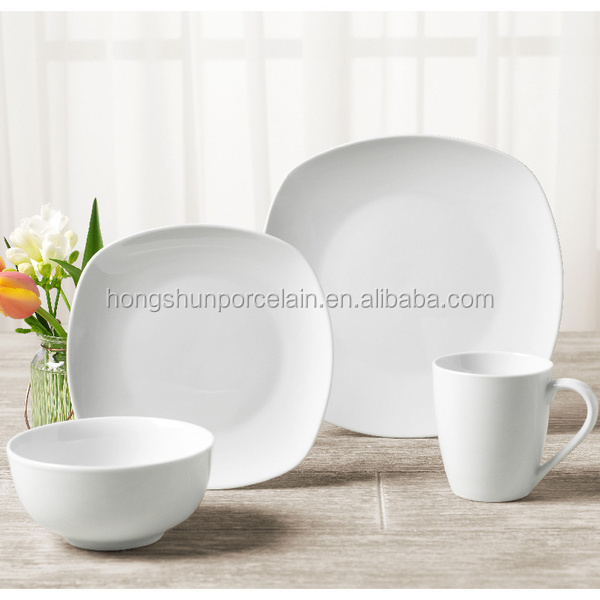 Most popular design ceramic dinnerware sets 16pcs white porcelain dinner set & Buy Cheap China designer dinnerware sets white Products Find China ...