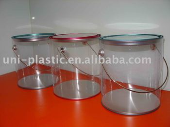 1 gal o latas de tinta clara wth handle buy product on for 1 gallon clear plastic paint cans