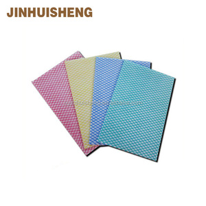 polyester/viscose chemical bond cleaning wipes for kitchen, antistatic cleaning dust cloth