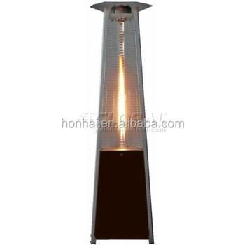 Borosilicate Glass Round Flame Gas Patio Heater
