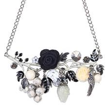 Ожерелье Bonsny, ожерелье с подвеской из эмалированного сплава в виде цветов птиц(Китай)